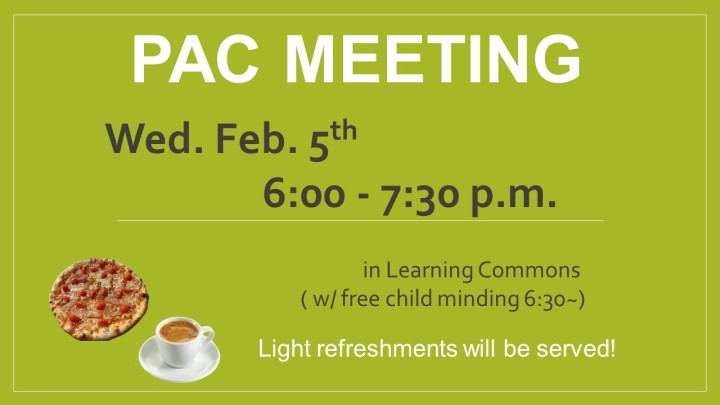 PAC meeting Feb