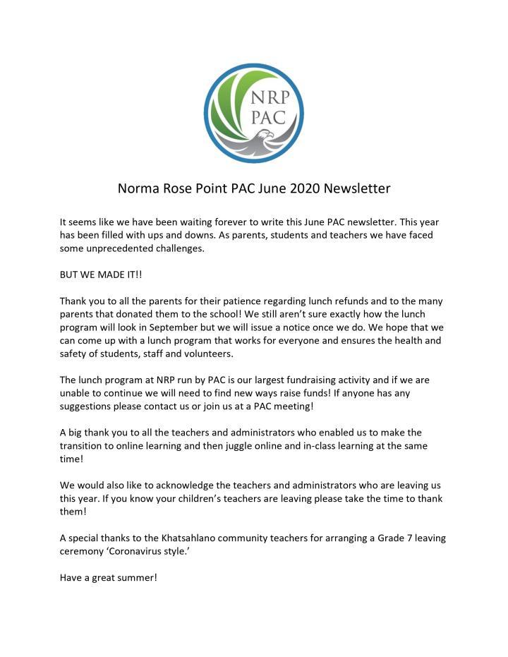 News Letter Jun